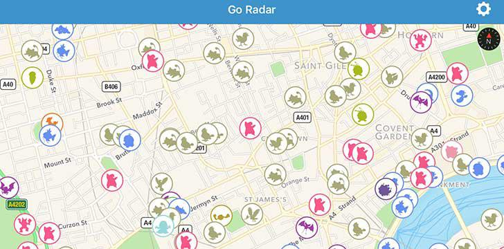 Go Radar's screenshots