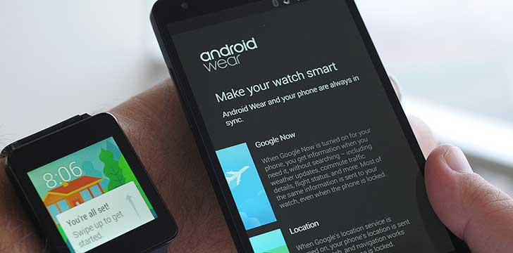 Android Wear's screenshots