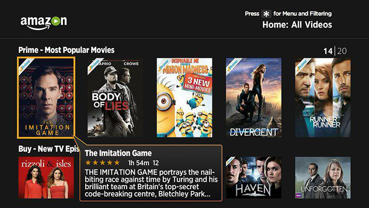 Amazon Prime Video's screenshots
