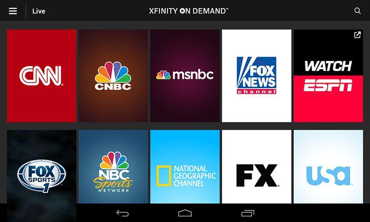 XFINITY TV Go's screenshots