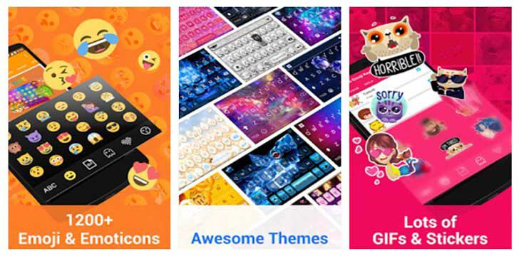 Kika Emoji Keyboard Pro + Gifs's screenshots