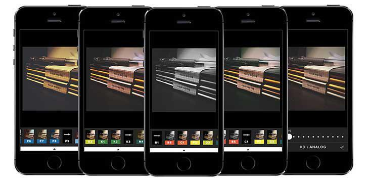 VSCO's screenshots