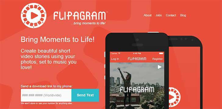 Flipagram's screenshots