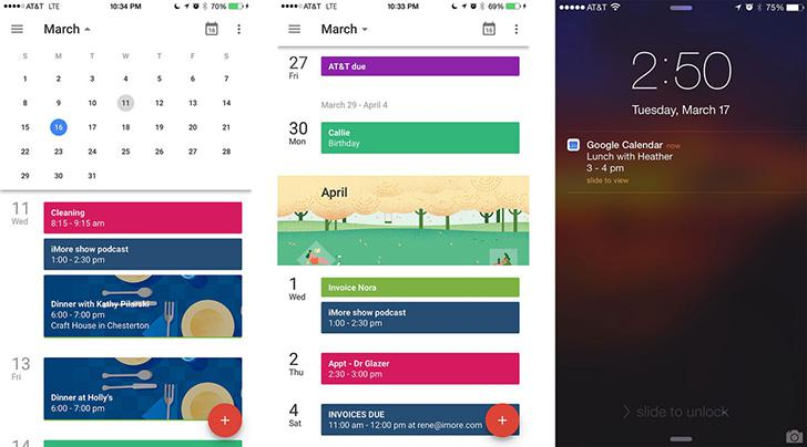 Google Calendar's screenshots
