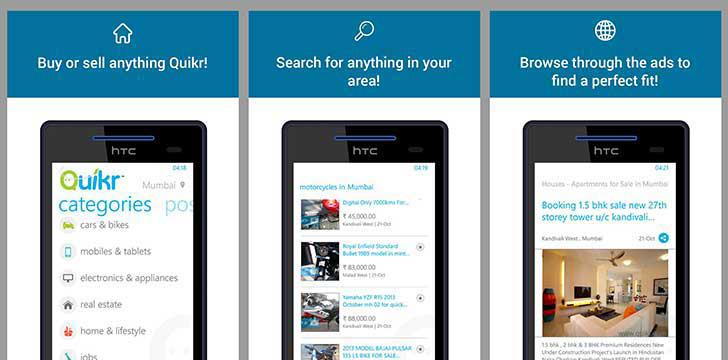Quikr's screenshots