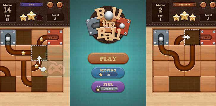Roll the Ball: slide puzzle's screenshots