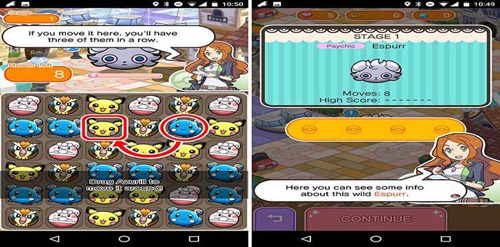 Pokemon Shuffle Mobile's screenshots